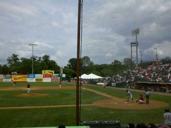 New Britain Stadium, section: 114, row: J, seat: 1