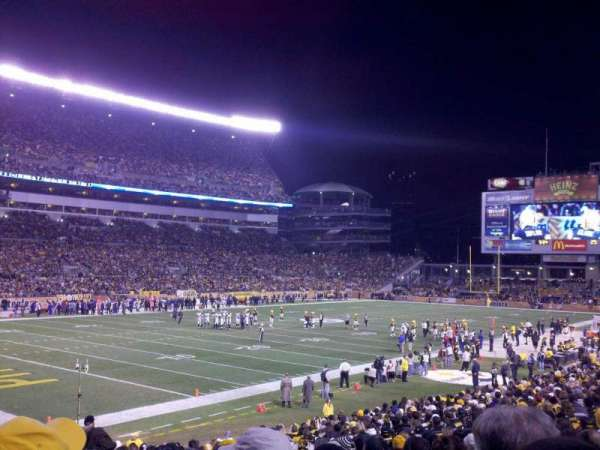 Heinz Field, section: 128, row: P, seat: 3