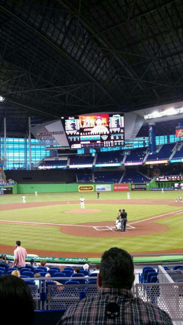 Marlins Park, section: 16, row: E, seat: 1