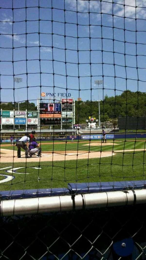 PNC Field, section: 20, row: 1, seat: 6