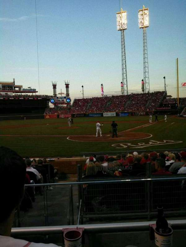 Great American Ball Park, section: 121, row: N, seat: 5