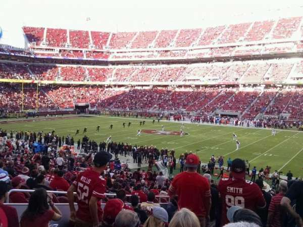 Levi's Stadium, section: 134, row: 29, seat: 12