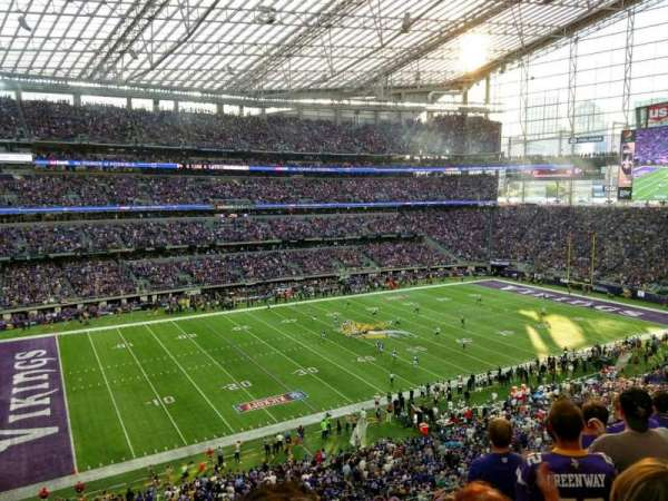 U.S. Bank Stadium, section: 215, row: 6, seat: 13