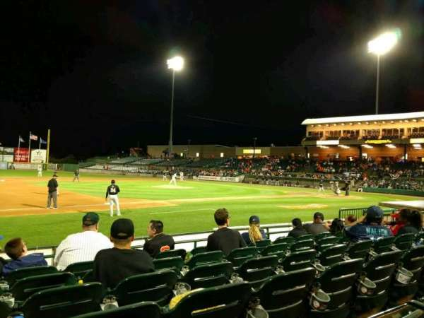 Fairfield Properties Ballpark, section: 109, row: H, seat: 14