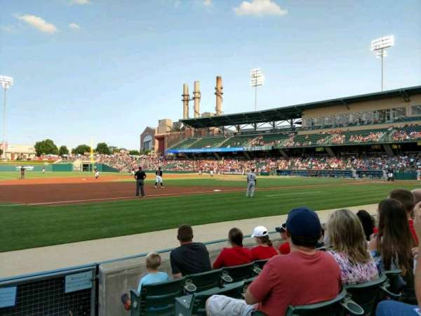 Victory Field, section: 106, row: E, seat: 1