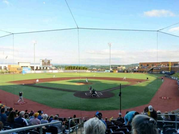 Monongalia County Ballpark, section: 105, row: N, seat: 1