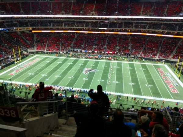 Mercedes-Benz Stadium, section: 338, row: 9, seat: 19