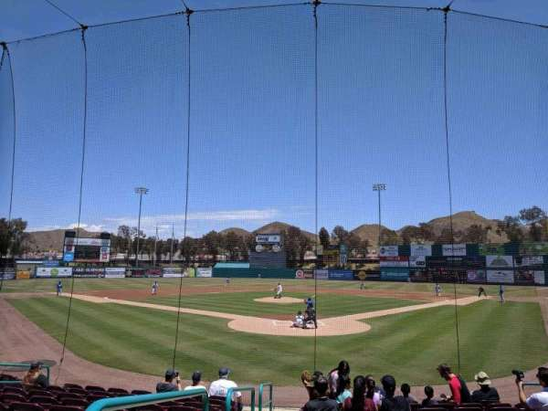 Lake Elsinore Diamond, section: 101, row: K, seat: 12