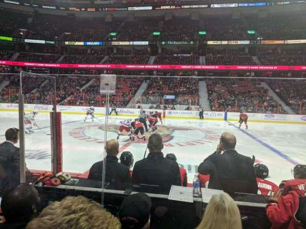 Canadian Tire Centre, section: 106, row: E, seat: 1