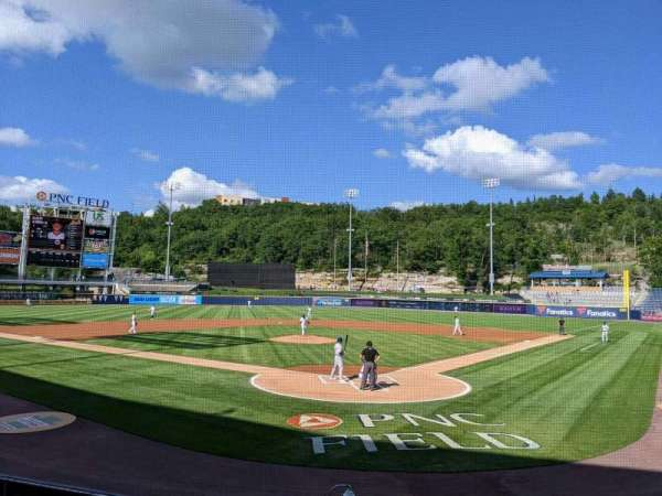 PNC Field, section: 22, row: 8, seat: 1