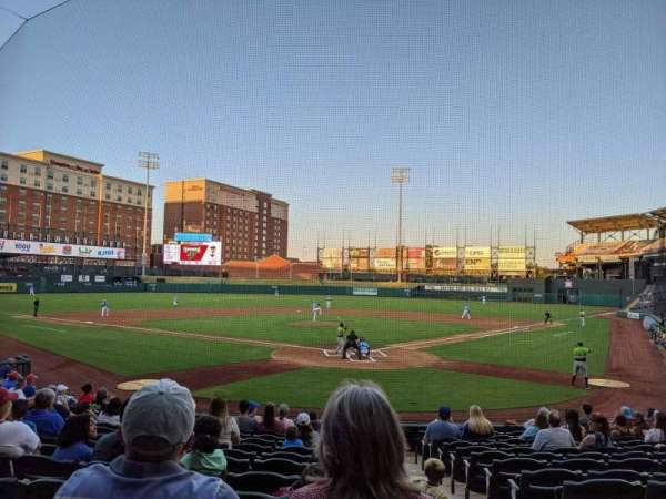 Chickasaw Bricktown Ballpark, section: 109, row: Q, seat: 1