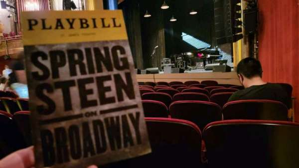 St. James Theatre, section: Orchestra R, row: H, seat: 26
