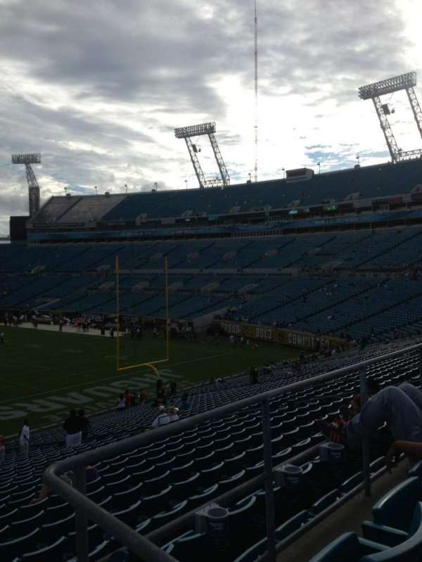 TIAA Bank Field, section: 227, row: A, seat: 1