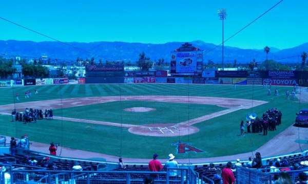 San Manuel Stadium, section: 203, row: m, seat: 1