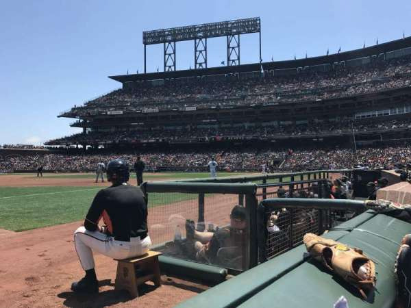Oracle Park, section: 127, row: 1, seat: 9