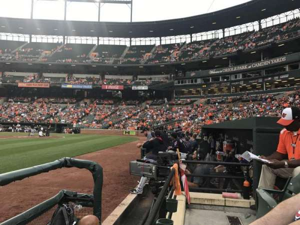 Oriole Park at Camden Yards, section: 54, row: 1, seat: 5
