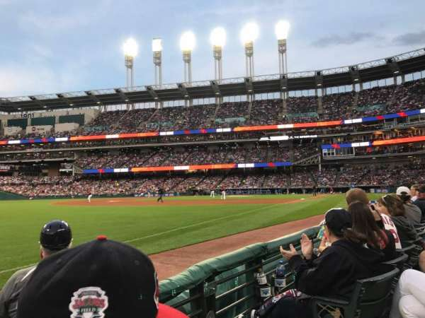 Progressive Field, section: 172, row: B, seat: 1