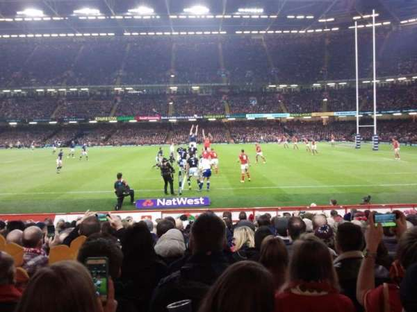 Principality Stadium, section: L28, row: 15, seat: 14