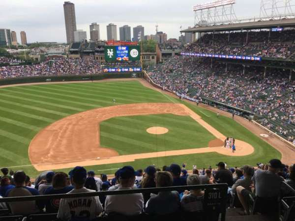 Wrigley Field, section: 411L, row: 1, seat: 13