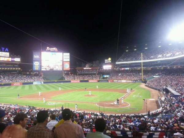 Turner Field, section: 204, row: 4, seat: 107