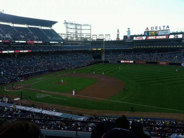 Turner Field, section: 317, row: 4, seat: 106