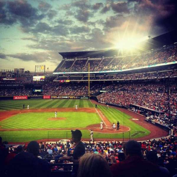 Turner Field, section: 208, row: 5, seat: 107