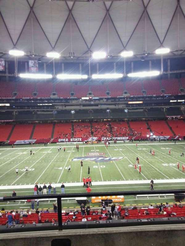 Georgia Dome, section: 247, row: 2, seat: 16
