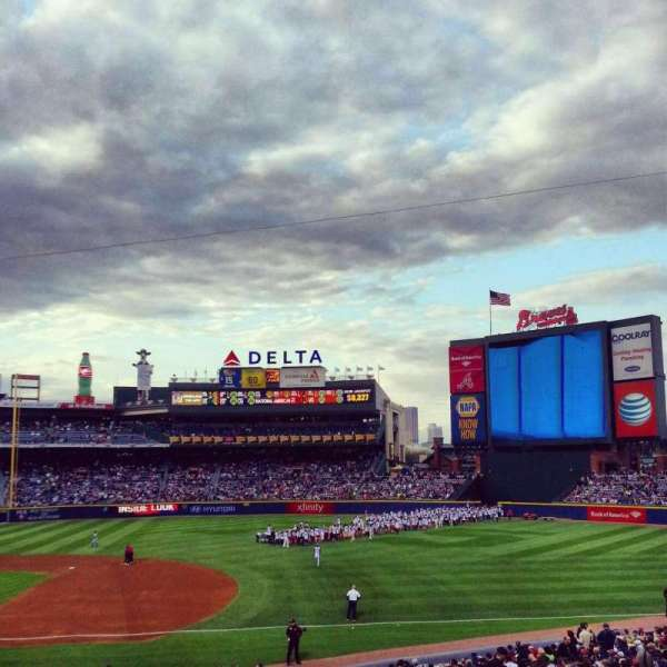 Turner Field, section: 217, row: 1, seat: 6