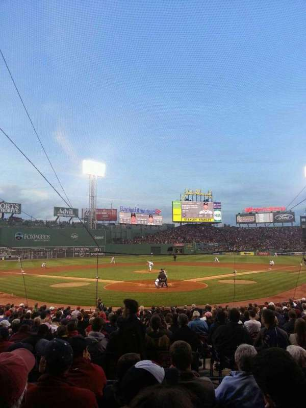 Fenway Park, section: Loge Box 131, row: EE, seat: 4
