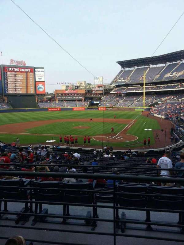Turner Field, section: 206R, row: 2, seat: 9