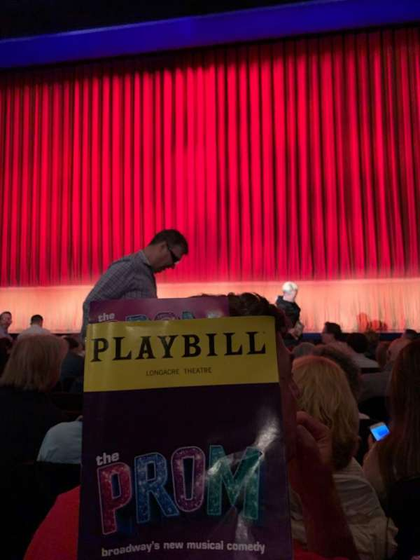 Longacre Theatre, section: Orchestra C, row: H, seat: 106