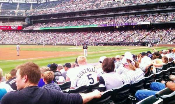 Coors Field, section: 142, row: 7, seat: 11