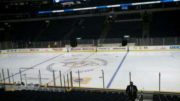 Bridgestone Arena, section: 107, row: F, seat: 27