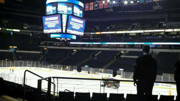 Bridgestone Arena, section: 108, row: H, seat: 22