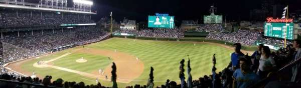 Wrigley Field, section: 530, row: 1, seat: 9