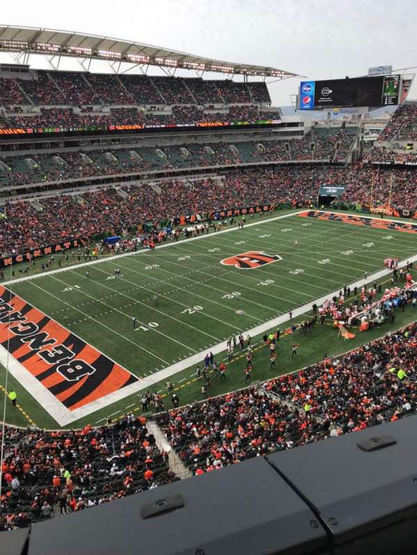 Paul Brown Stadium, section: 347, row: 1, seat: 14
