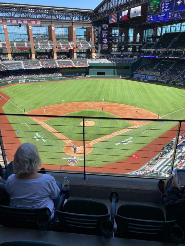Globe Life Field, section: 218, row: 3, seat: 7