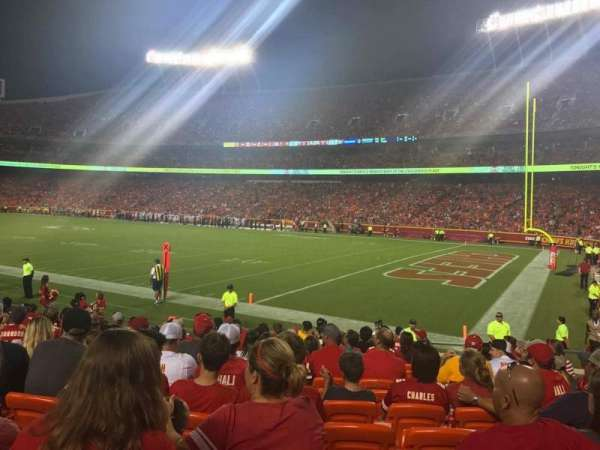 Arrowhead Stadium, section: 114, row: 13, seat: 13