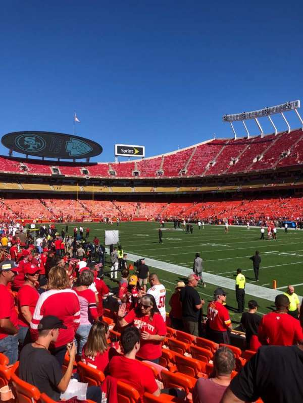 Arrowhead Stadium, section: 114, row: 9, seat: 7