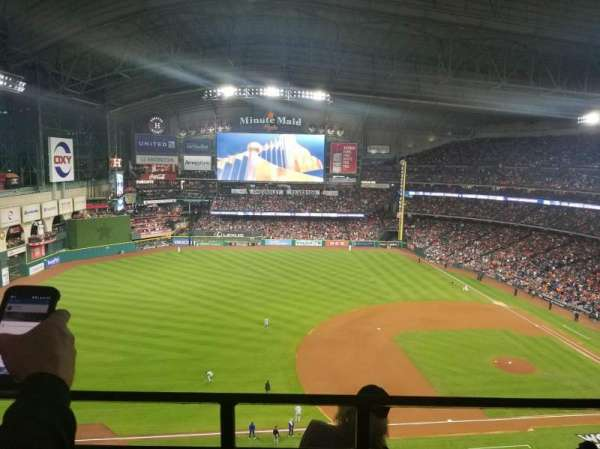 Minute Maid Park, section: 410, row: 1, seat: 20