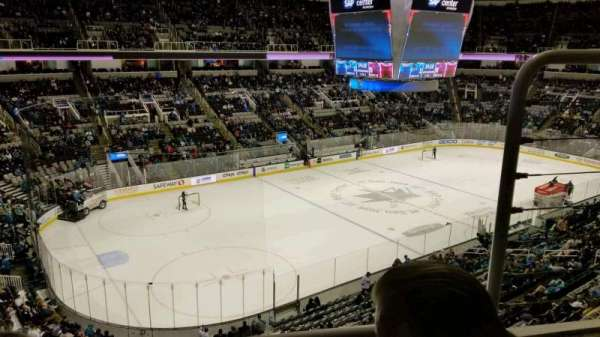 SAP Center, section: 218, row: 2, seat: 4