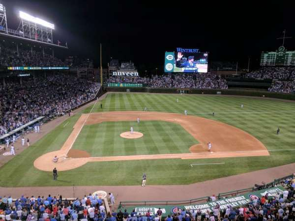 Wrigley Field, section: 324R, row: 1, seat: 3