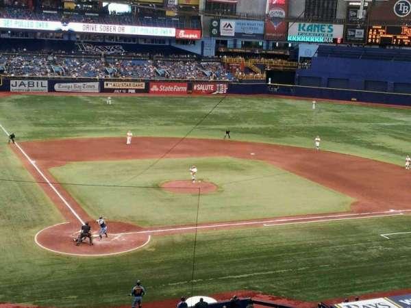 Tropicana Field, section: 206, row: F, seat: 1