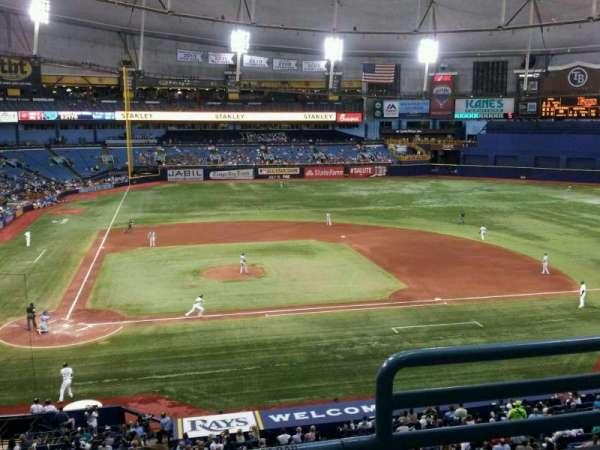 Tropicana Field, section: 208, row: C, seat: 2
