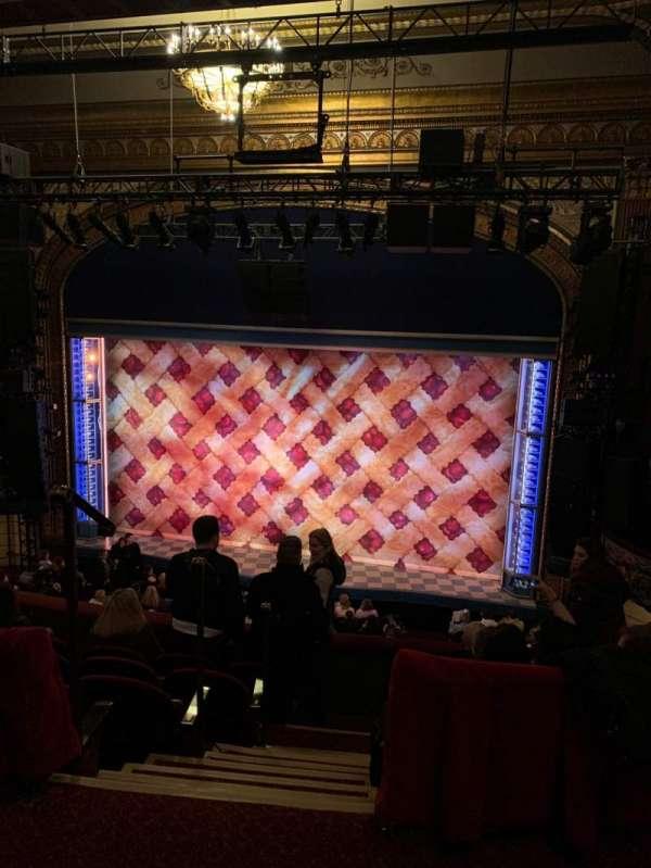 Brooks Atkinson Theatre, section: Rear Mezz, row: E, seat: 106