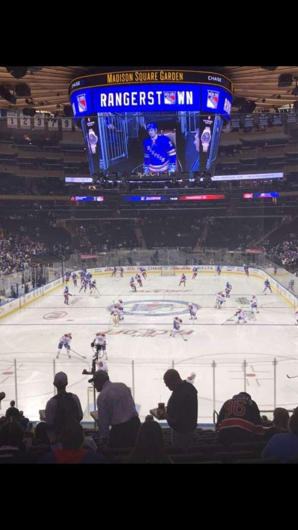 Madison Square Garden, section: 112, row: 21, seat: 19