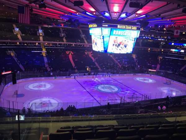 Madison Square Garden, section: 222, row: 9, seat: 6