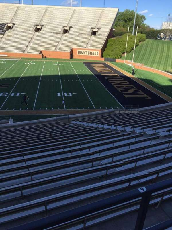 Truist Field at Wake Forest, section: 8, row: DD, seat: Handicapped