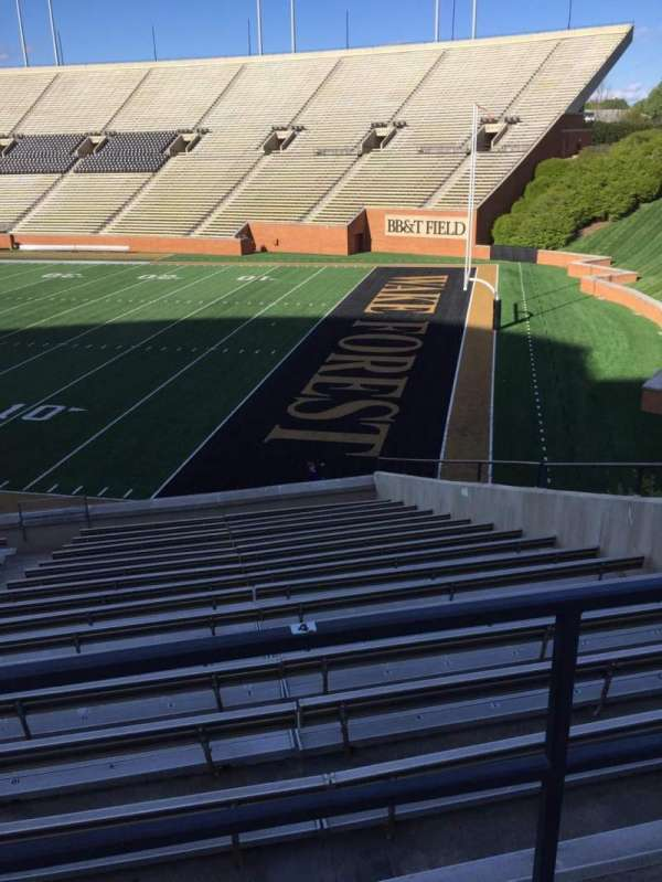 Truist Field at Wake Forest, section: 10, row: DD, seat: 10