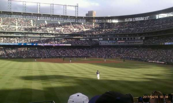Coors Field, section: 155, row: 12, seat: 2